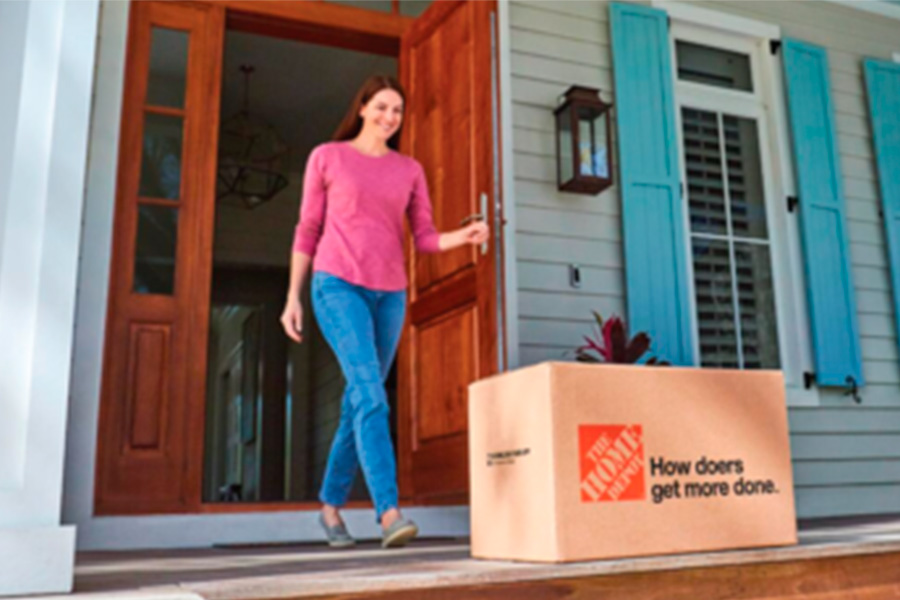 Home Depot is the first retail client of Walmart GoLocal